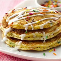 Cake Batter Pancakes Recipe