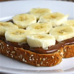 Banana Open Faced Sandwich with NUTELLA(R) Recipe