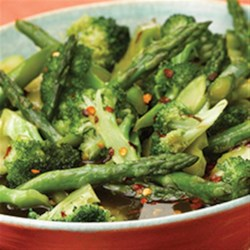 Hot 'n Sweet Broccoli and Asparagus