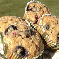 blueberry zucchini muffins printer friendly