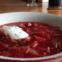 Beef and Beet Borscht Recipe