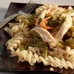 Pasta with Thai-Style Chicken Recipe