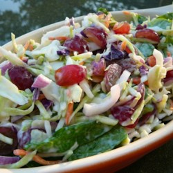 Coleslaw With Grapes and Spinach Recipe