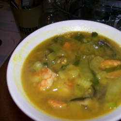 Prawns in Peanut Soup Recipe