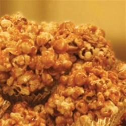 Caramel Popcorn Clusters Recipe