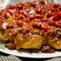Cherry-Caramel Sticky Buns