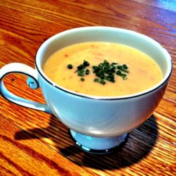 Cream of Green Garlic and Potato Soup