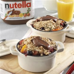 Breakfast Fruit Crumble Topped with NUTELLA(R) Recipe