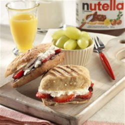 Strawberry Mini Paninis with NUTELLA(R) Recipe