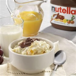 NUTELLA(R) Breakfast Rice Pudding Recipe