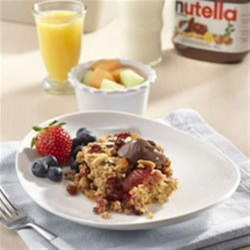 Easy Maple NUTELLA(R) Baked Oatmeal Recipe