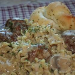 Elegant Stroganoff Meatballs Recipe