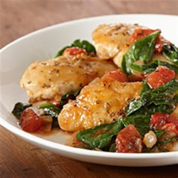Photo of Herb Chicken Skillet with Spinach and Tomatoes by McCormick® Everyday Cooking