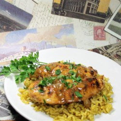 FrankieAnn's Chicken with Honey Beer Sauce