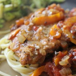 Veal Scallopini in a Sweet Red Pepper Sauce Recipe