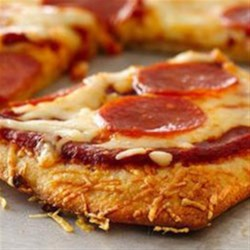 Parmesan Crusted Pepperoni Pizza Recipe