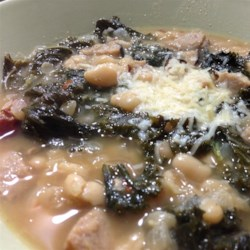 White bean, kale, and grilled sausage soup Recipe