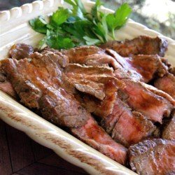Beerbecue Beef Flank Steak Recipe