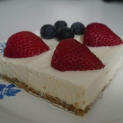 No-Bake Cheesecake Flag Cake  Recipe