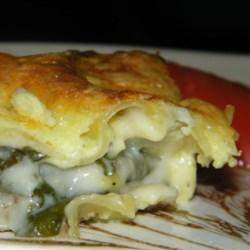 Sausage Spinach Alfredo Lasagna Recipe
