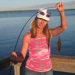 "Catching a ""Sun-fish"" in Detroit Lakes"
