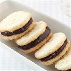 Cream Cheese Sandwich Cookies with Dark Chocolate Filling