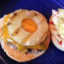 Hawaiian turkey burger.