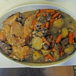 Braised Rabbit with Mushroom Sauce