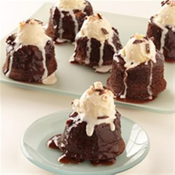 Individual Chocolate-Peppermint Lava Cakes Recipe