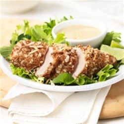 Crispy Coconut Sesame Chicken with Soy Lime Dipping Sauce Recipe