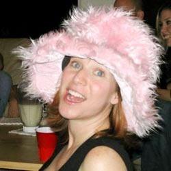 Mikki in pink pimp hat