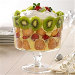 Photo of Strawberry-Kiwi Holiday Trifle by JELL-O