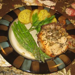 Anchovies-Rosemary Pork Chops Recipe