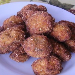 Fried Mushrooms with Feta Cheese Sauce Recipe