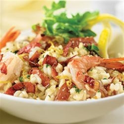 Lemon Risotto with Margherita(R) Prosciutto and Shrimp