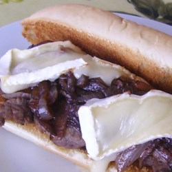 Roast Beef Subs with Balsamic Onions and Brie Cheese Recipe