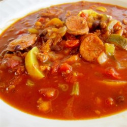 Spicy Sausage and Red Pepper Soup