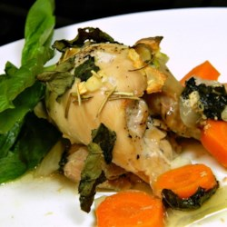 Garlic and Basil Baked Chicken Thighs Recipe