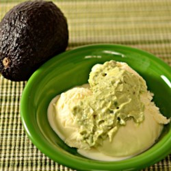 Avocado Ice Cream Sauce Recipe