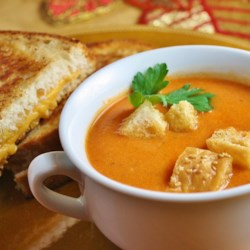 Smoked Chipotle Tomato Basil Soup