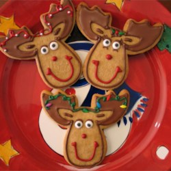 Reindeer Cinnamon Cut Out Cookies