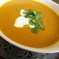 vegan carrot curry soup printer friendly