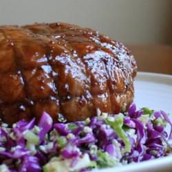 roast pork with maple and mustard glaze printer friendly