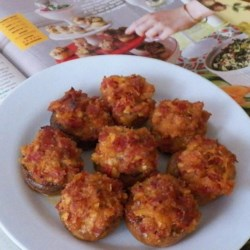 Pepperoni Stuffed Mushrooms Recipe