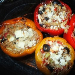 Nick's Feta and Artichoke Stuffed Peppers