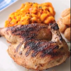 Grilled Game Hens with Blood Orange and Rosemary Recipe