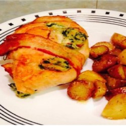 Cream Cheese, Garlic, and Chive Stuffed Chicken Recipe