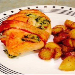 Bacon-Wrapped Chicken Stuffed with Spinach and Ricotta Recipe