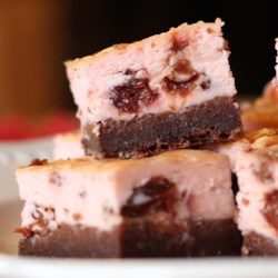 Black Bottom Cherry Cheesecake Bars