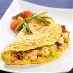 Bacon, Leek and Potato Omelette
